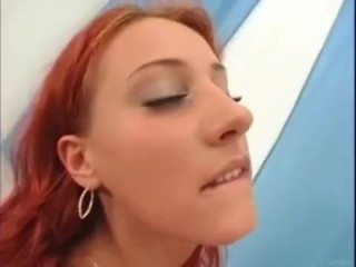 Red head and brunnette anal