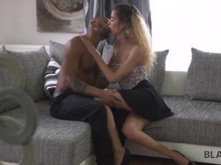 BLACK4K. Monique is tired of cleaning and wants to relax with shaft