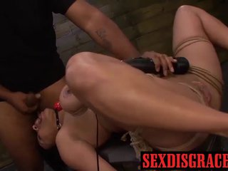Bondage and rough sex with Becca