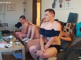 Teenagers Swinger Fun Action & Toning Body Massage Foursome Group