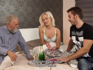 DADDY4K. Bearded man gives sons girlfriend dicking she needed so badly