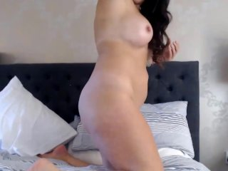 MILF with perfect boobs rubbing clit