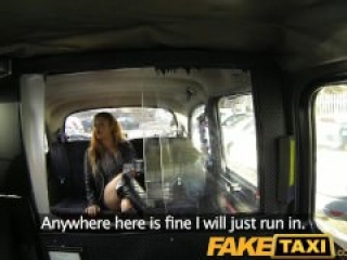 FakeTaxi Feisty customer tries to get out of sucking cock
