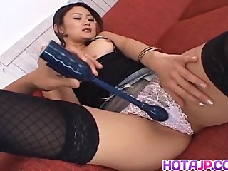 Risa Murakami gets sex toys and cum on face