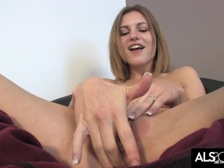 Small Tits Kacey Chase Teases Clit and Cums Hard with Toy