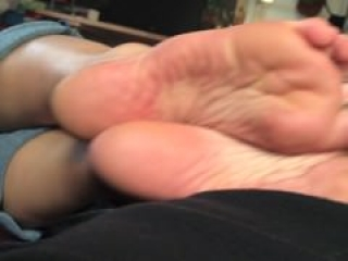 Maddie's extremely stinky footjob