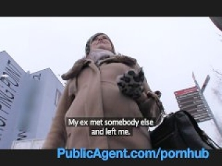 PublicAgent Pregnant Angelina Jolie look a like takes cash for sex