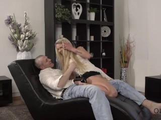 OLD4K. Old man creampies young mistress after awesome sex on daybed