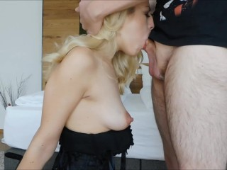 Submissive Blonde Bound Sloppy Messy Rough Deepthroat Facefuck