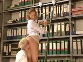 Librarien gets fucked in tight pussy