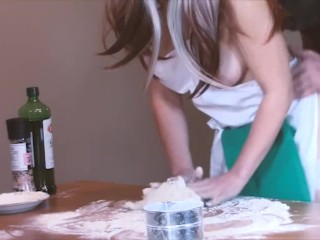 She asked me to help her bake a pie - we ended up baking a CREAMPIE
