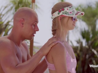 WOWGIRLS PROMO A Czech beautiful blonde Violetta got seduced for amazing fuck by the pool.