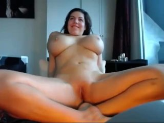Monster boobs and big booty ass babe hard masturbating on cam