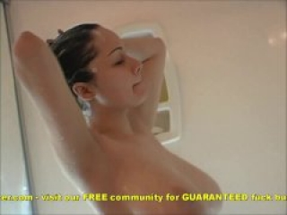 Busty Teen In Shower Soaping Cum off Her Huge Titties