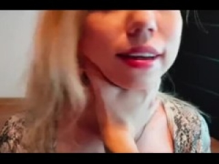 Blond wife gets facial with huge thick cock