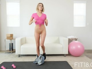 FIT18 - Emma - 47kg - Casting Skinny Canadian Blonde - 60FPS