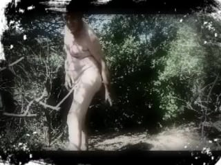 transvestite man fisting anal cucumber foret outdoors 14