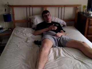 Teen Twink Plays While Texting Bae (Full Version)