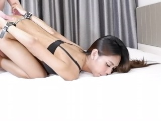 Tight Asian Model regrets agreeing to be Handcuffed