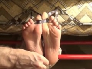 Sexy feet tickled in stocks