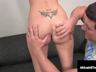 Slim Chick Addison O'Reilly Milks Cock By Squeezing Her Asshole Doing Anal!
