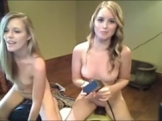 Two Webcam Hotties go at it on two Sybians