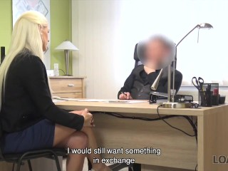 LOAN4K. Girl is tired of working as shop assistant so why fucks hard
