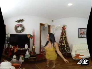 WankzVR - Curvy Latina Wants YOUR Cum For Christmas!