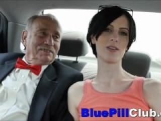 Naughty Teen Threesome With 2 Old Grandpas