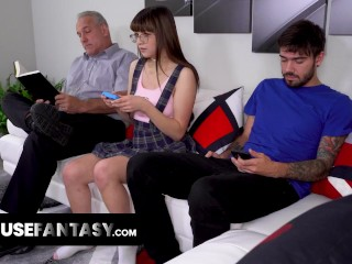 Adorable Nerd Babe Needs Her Huge Stepbrother's Dick To Pound Her Teen Pussy Until She Stops Gaming