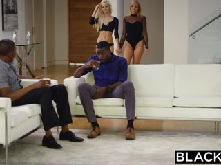 BLACKED Elsa Jean and Zoey Monroe First BBC
