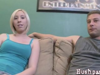 Petite Blonde Teen Jules Creams On A Cock