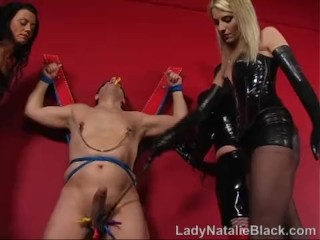 Two Mistress Double Anal Fisting