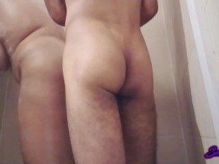Teen likes it only in the ass - Anal fuck in the shower