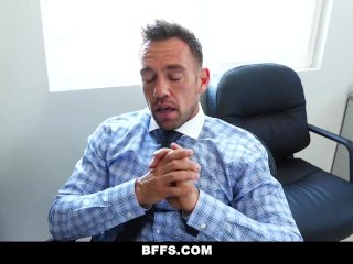 BFFS - Horny Interns Share Cock With Their Boss's