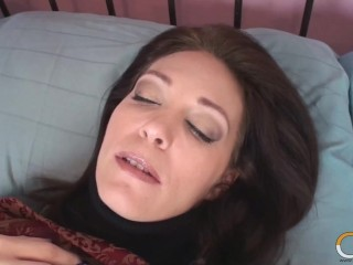 Cheating Busty MILF Charlee Chase Milks A Pale Vampire While Hubby's Out!