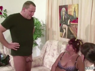 German Amateur MILF and Husband in Private Threesome