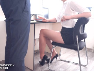 Amateur Sex in Office with Young Secretary Facial Cum 4K POV Kate_Boom