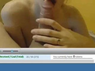 amateur girl with glasses sucking cock