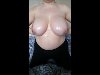 step sister shows off huge tits