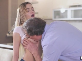 VIP4K. Impressive old and young porn scene by Olivia and her senior