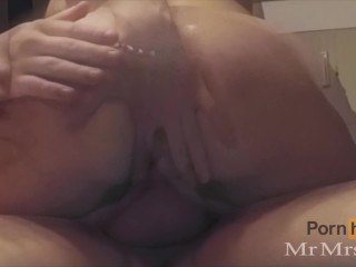Tinder Date Rough Anal Penetration and Cum on Pussy