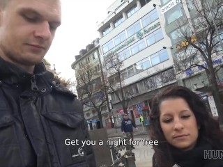 HUNT4K. Prague whore has wild sex with man in front of her lover