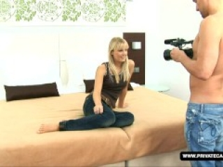 Shooting a teen casting with Rose