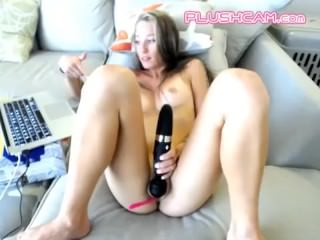 Milf Cunt Is Addicted To PLUSHCAM Lush Dildo Vibrator That You Control