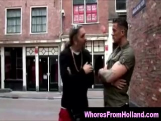 Amateur guy meets real hooker in Amsterdam and pays for sex
