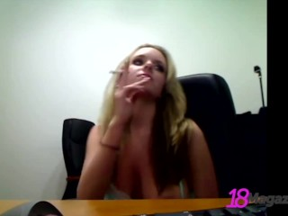 Big Boobed Teen Brittany Gets On WebCam & Displays Her Amazing Rack & Body!
