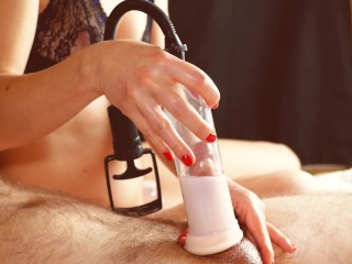 Teasing with Cock Pump Control