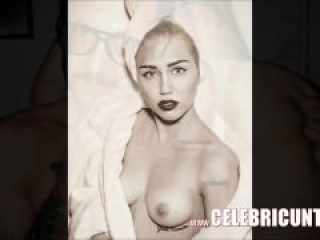 Nude Celebrity Fun with Miley Cyrus Tits and Pussy