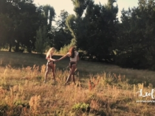 Public Sex in a Parc with my best friend! FFM Amateur Couple LeoLulu +Guest